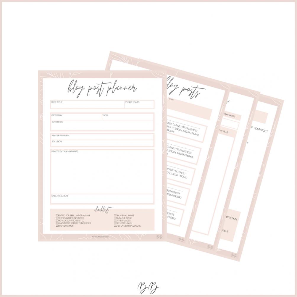 Blogging Babes Printable Blogging Workbook + Planner