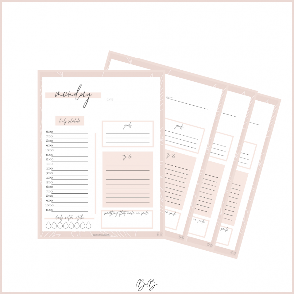 Printable Daily Planning Sheets