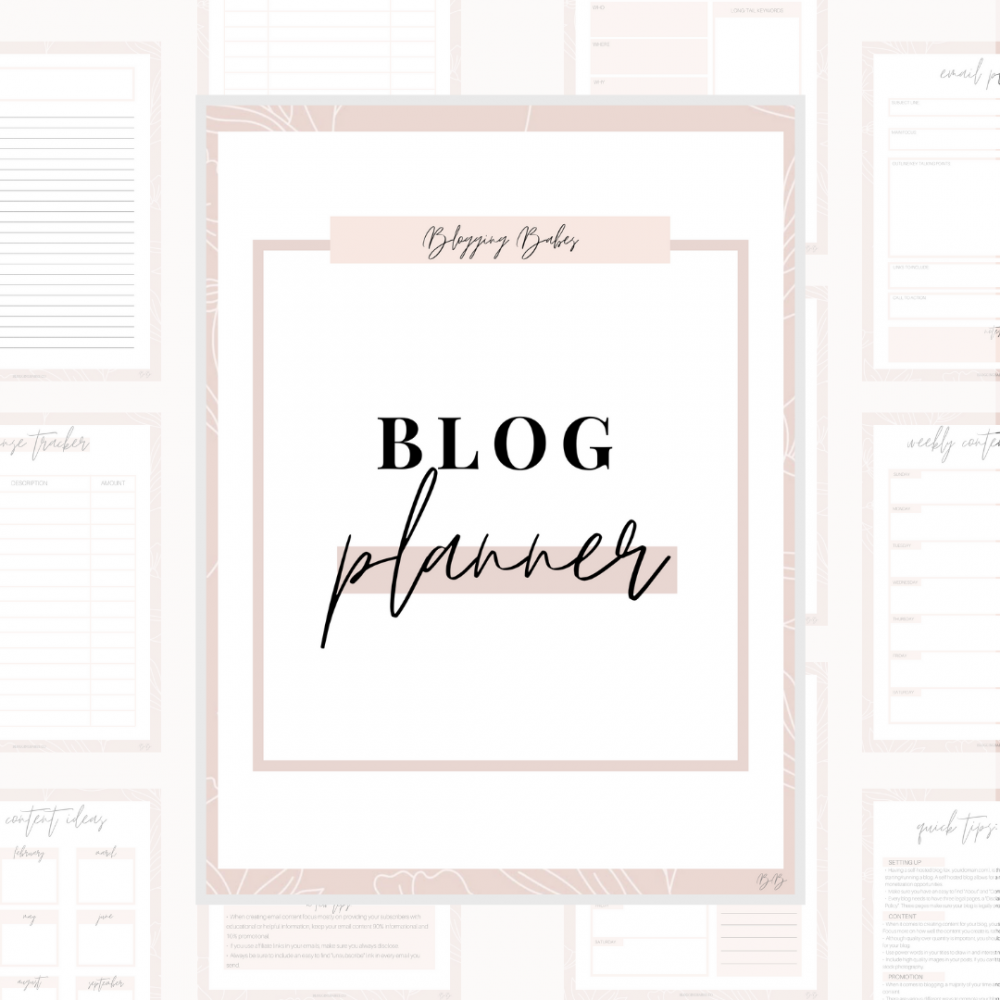 Blogging Workbook+ Planner