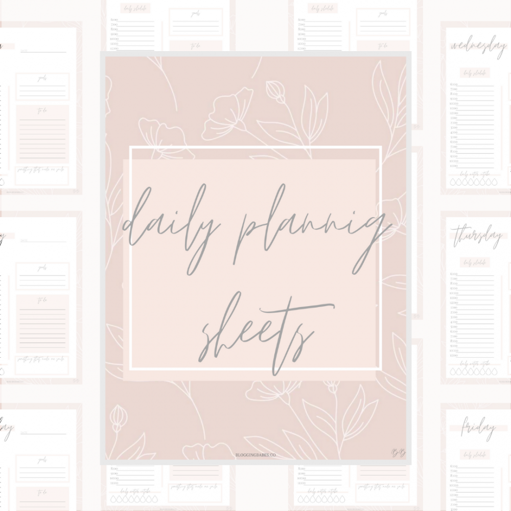 Daily Planning Sheets